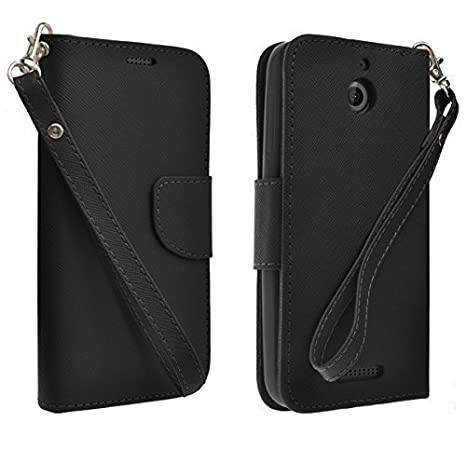 newest cfae8 dd4d1 HTC Desire 512 Case, HTC Desire 510 Wallet Case [Book Fold] Leather Cover  [Flip Cover] with Foldable Stand, Pockets for ID, Credit Cards Flip Case  For ...