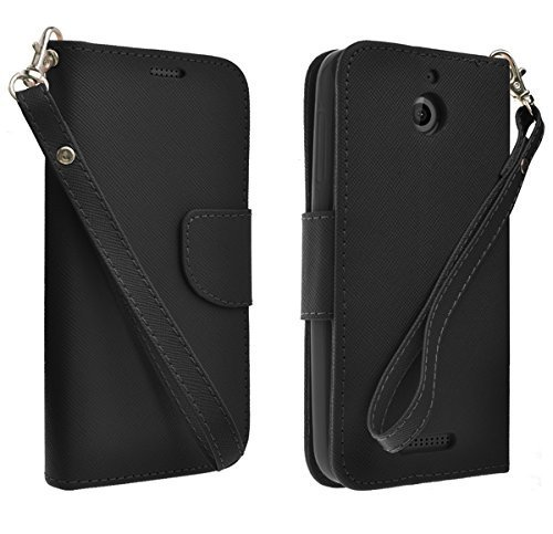 (HTC Desire 512 Case, HTC Desire 510 Wallet Case [Book Fold] Leather Cover [Flip Cover] with Foldable Stand, Pockets for ID, Credit Cards Flip Case For HTC Desire 510 + Touch Sensitive Stylus Pen)