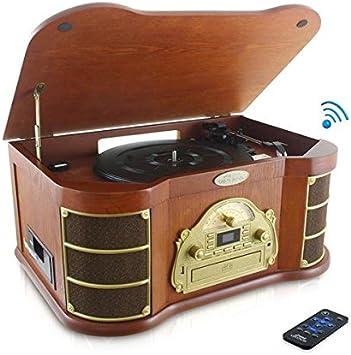 Pyle PTCD54UB - Tocadiscos con Bluetooth, diseño Retro con Am-FM ...