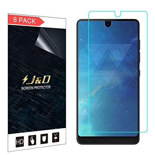 J&D Compatible for 8-Pack Essential PH-1 Screen Protector, [Not Full Coverage] Premium HD Clear Film Shield Screen Protector for Essential PH-1 Crystal Clear Screen Protector