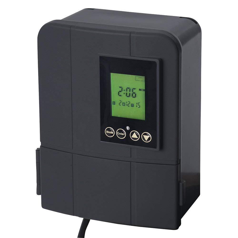 Sterno Home GL33120 Paradise 12V 120W Low Voltage Landscape Lighting Transformer with Dusk-to-Dawn Timer