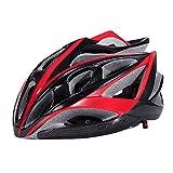 Road Adult Bike Helmet, Cool Bicycle Helmet(Black+Red)