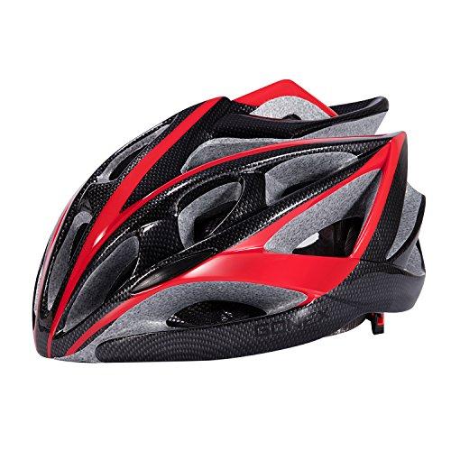 Gonex Road Adult Bike Helmet, Cool Bicycle Helmet(Black+Red)