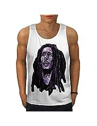 Face Celebrity Bob Marley Men Men Tank Top   Wellcoda