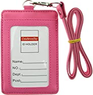 Cmxsevenday A7914 PU Leather ID Card Holder with 1 ID Window and 1 Card Slot, Vertical Style, Various Colors