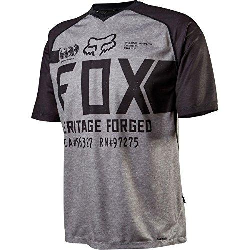 Fox Men's Indicator Shorts Sleeve Jersey, Heather Grey, Larg