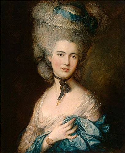 Oil Painting 'Gainsborough, Thomas_1770s(late)-1880s(early)_A Woman In Blue' 30 x 37 inch / 76 x 93 cm , on High Definition HD canvas prints is for Gifts And Bath Room, Nursery - Nick Asia Junior