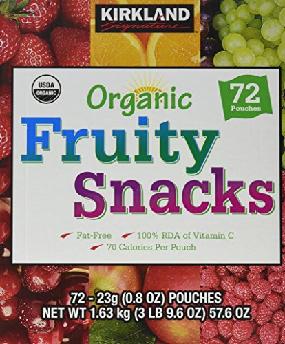 (Kirkland Signature Organic Fruit Snack, 57.6 oz)