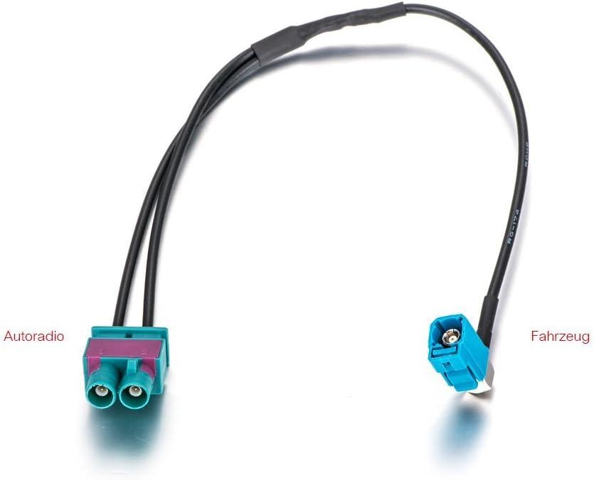 Liebmaya Autoradio Antennenadapter Auto Antenne Adapter Doppel Fakra Auf Fakra Verteiler Splitter Für Vw Auto