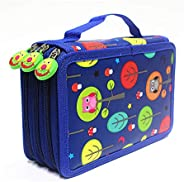 52 Slots Large Capacity Multi-Layer Students Colored Pencils Organizer Wrap Colored Pencils Holder Pouch Holde