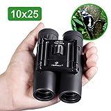 HUTACT Binoculars Compact, 10x25 Small and Lightweight, for Concert Theater Opera, Mini Pocket
