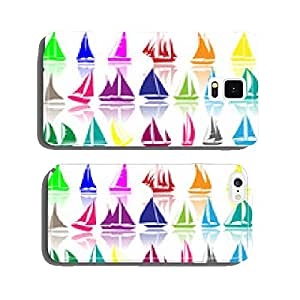 A set of vector silhouettes of yachts cell phone cover case iPhone6 Plus
