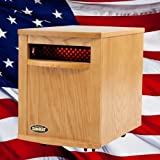 Original SUNHEAT Amish Hand Crafted Infrared Heater - Nebraska Oak