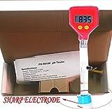 PH-98108 Portable Cheese Milk PH Meter for Milk Digital PH Tester Water PH Meter Pen Tester with Measuring Range 0.00 to 14.00pH Suitable for Water, Food, Aquarium, Pool & Hydroponics, Red