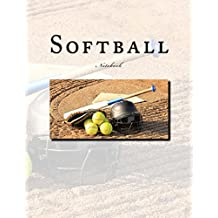 Softball Notebook: Notebook with 150 lined pages