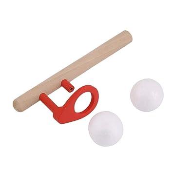 Materiali Montessori Bambino Legno Colpo Hobby Divertimento allaria aperta Giochi sportivi Palla Schiuma Palla galleggiante legno e rosso