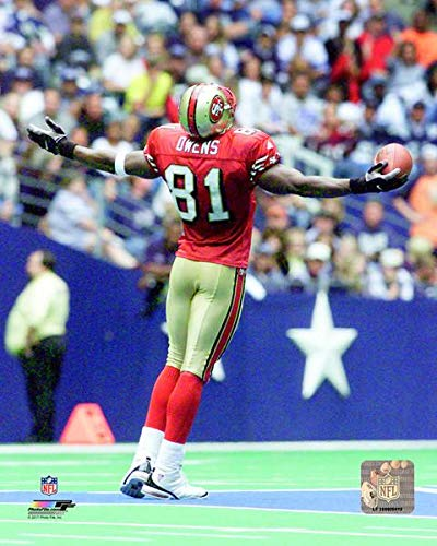 Terrell Owens San Francisco 49ers 2000 Action Photo (Size: 8
