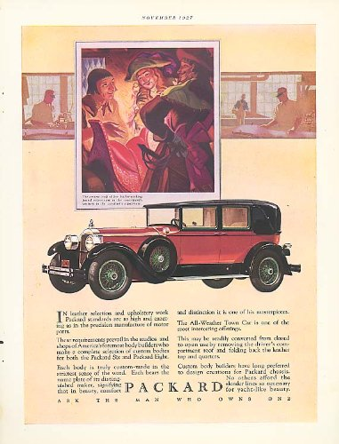In leather selection - Packard 4-dr Sedan ad 1928 ()