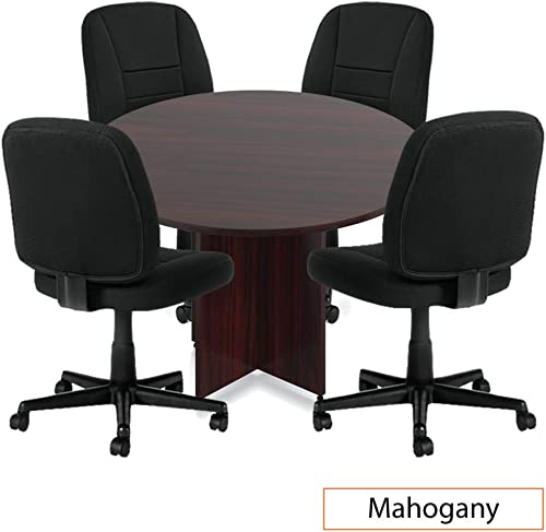 GOF 36 , 42 , 48 Round Table G11343B , Cherry, Espresso, Mahogany, Walnut 48 Round Table with 4 Chairs, Mahogany
