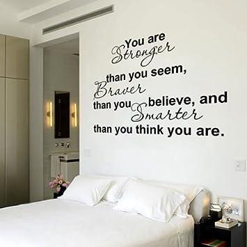 Black vinyl english letters quote door room window art mural wall sticker decal