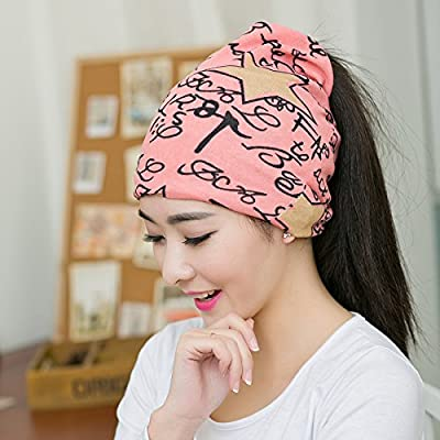 New Fashion Women Hat Fall Winter Hats Casual Star Beanie Girls Caps Warm Hats Ear Protection Hat Beautiful Scarf Swag Cap