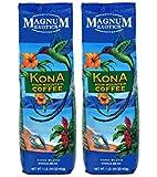 Magnum Coffee Whole Bean, Kona Blend, 16 Ounce (2 Bags)