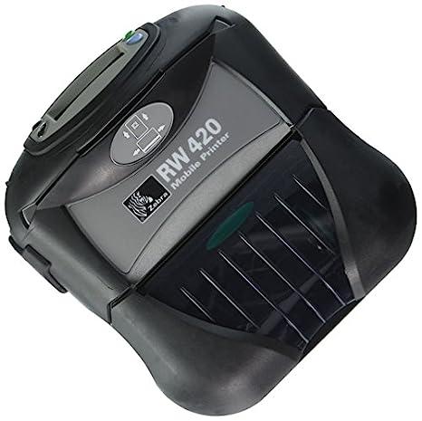 "Zebra RW 420 RW420 R4D-0UBA010N-00 Mobile Thermal 4/"" Printer BLUETOOTH MSR"