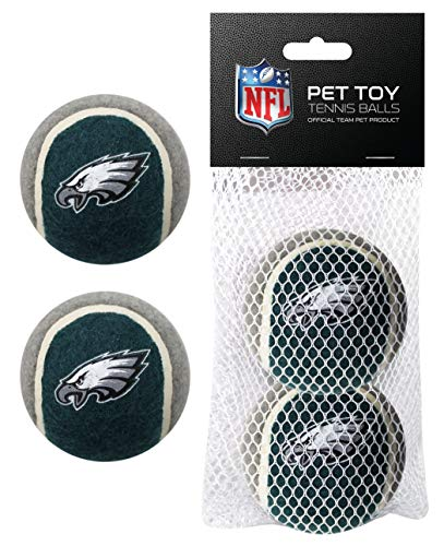 Nfl Pet Set - Pets First NFL Philadelphia Eagles Tennis Balls for Dogs & Cats - 2 Piece Set with Team Logo in Vibrant Team Color