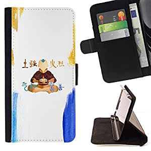 Momo Phone Case / Flip Funda de Cuero Case Cover - Airbender;;;;;;;; - Motorola Moto E ( 1st Generation )