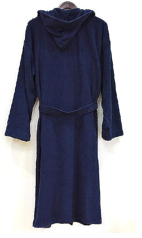 XXXL Full Length 100/% Turkish Cotton Heavy Hooded Terry Cloth Bathrobe
