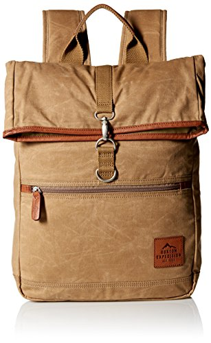Buxton Men s Expedition Ii Huntington Gear Fold-Over Canvas Backpack