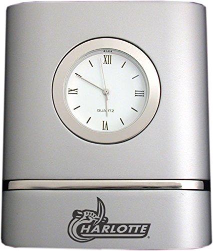 North Carolina Desk Clock - University of North Carolina at Charlotte- Two-Toned Desk Clock -Silver