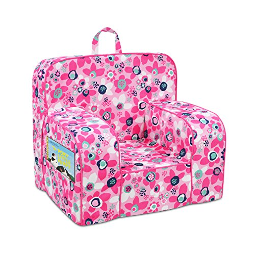 - Kangaroo Trading Mason Grab'N'Go Chair (2 Pockets) Wildflower with Passion Pink Welt Childrens Chairs