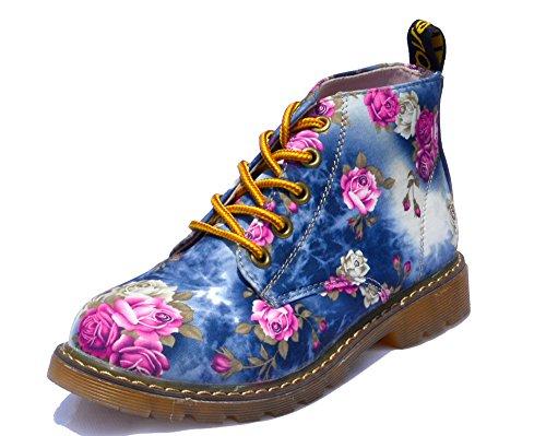 Zapatos Tacones NINGUTA de Flores cordones Azul planos qawwgf
