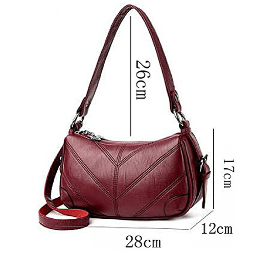 Ajlbt Korean Winered Package Diagonal Bag Trend Version Bag Leather Soft The Bags Of qHFxZ4