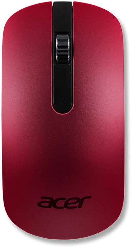 Acer Slim Wireless Optical Mouse - Red