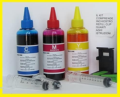 Tinta compatible para recarga cartuchos impresora Canon CL 512 CL ...