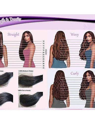 jfldma® larga Completo punta pelo verworrene humana pura humanos Brasil rizado pelucas pelo Punta pelucas para África Americanos, medium brown-12 inch: ...