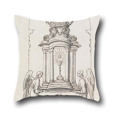 Oil Painting G B C - Design For A Tabernacle Door To Be Executed In Bronze Throw Pillow Covers 20 X 20 Inch / 50 By 50 Cm For Kids ()
