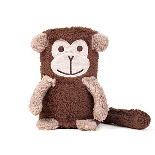Tadpoles Animal Pals Rolled Sherpa Blanket, Morris Monkey, Dark Brown