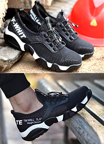 Tongzone Hollow Out Kevlar Midsole Breathable Work Shoes, Steel Toe Footwear,Industrial and Construction Shoes,Zero Piercing by Tongzone (Image #7)