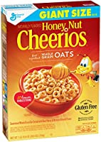 Honey Nut Cheerios Gluten Free Breakfast Cereal, 26.6 oz, Giant Size Cereal Box
