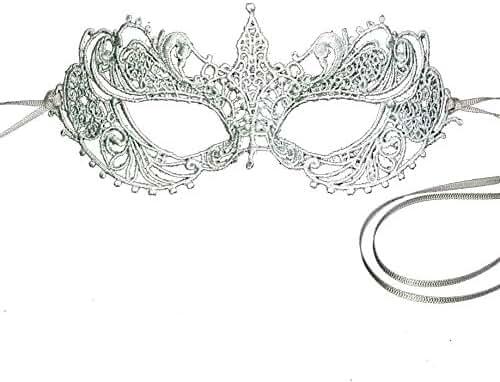 Stunning Silver Gray Grey All Lace Goddess Ana Masquerade Mask