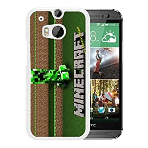 Popular Custom Designed Cover Case With Minecraft 36 White For HTC ONE M8 Phone Case