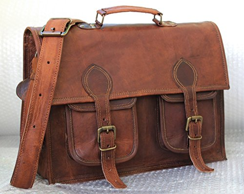 Handmadecraft Handmade Vintage Style Camera Bag/ Messenger/ Camera Briefcase/camera Messenger Bag/dslr Bag (Dark - Priority Tracking Fedex Number