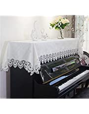 Piano Cover Doek Elektrische Piano Stofdichte Protector Digitale Piano Beschermende Cover, Piano Decoratieve Cover Indoor Piano Stof Cover Doek (90 * 200cm, Wit 1)