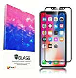 EVERLIT for iPhone X Screen Protector Glass [3D Full Coverage] Technology Premium Tempered 9H Hardness 2.5D PET [PET Soft Edge] Easy Installation [White] (Black)