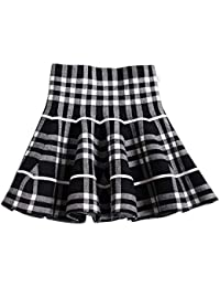 Little Big Girls' High Waist Knitted Flared Pleated Skirt Casual Age 2-14Y