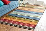 Mohawk Home New Wave Rainbow Multi Rug, 2' x 5'