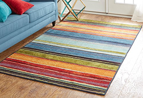 Mohawk Home New Wave Rainbow Multi Rug, 2' x 5'